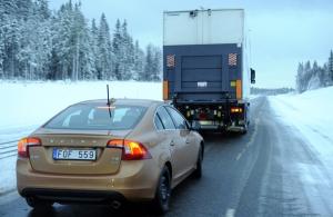Volvo prueba en Barcelona el funcionamiento de sus coches sin conductor