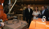La conselleira de Traballo e Benestar visita el Centro Tecnológico AIMEN para conocer sus capacidades formativas