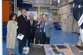 El rector de la Universidad de Vigo, Manuel Reigosa, visita las instalaciones de AIMEN Centro Tecnológico