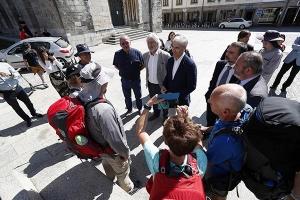 La Xunta de Galicia licita un sistema pionero para asistir a los peregrinos mediante drones